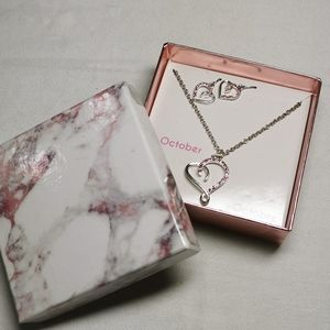🌺2/$25🌺 pink heart earring and necklace set